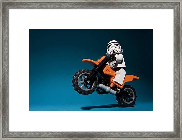 Wheelie Framed Print