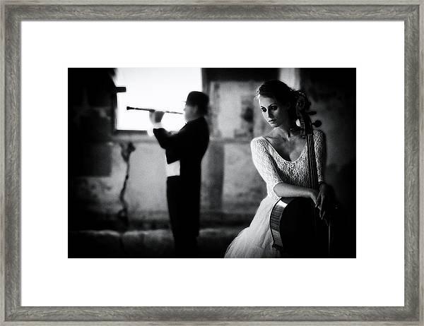 When Even Music ... Framed Print by Roswitha Schleicher-schwarz