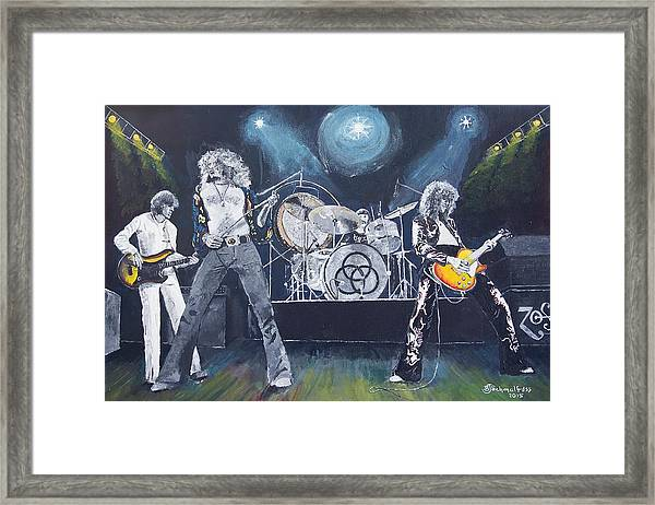 When Giants Rocked The Earth Framed Print