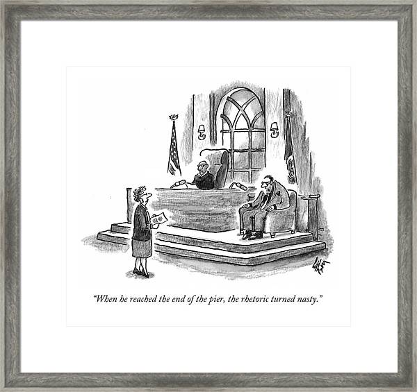 When He Reached The End Of The Pier Framed Print