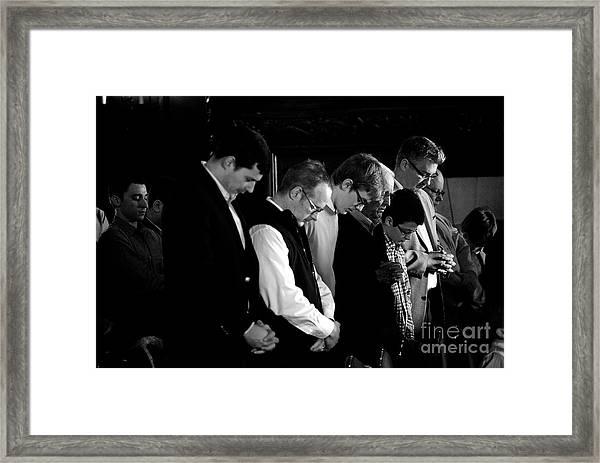 When Men Put God First Framed Print