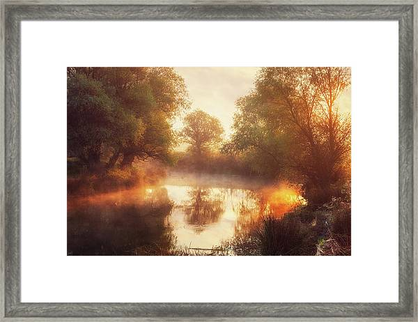 When Nature Paints With Light II Framed Print