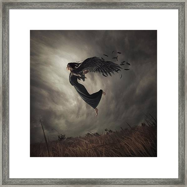 When The Angel Falls Framed Print