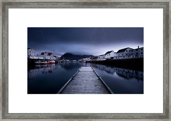 When The Night Comes Falling From The Sky Framed Print by Lior Yaakobi