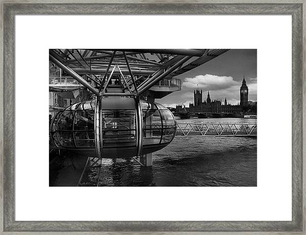 When The Past Meets The Future Framed Print