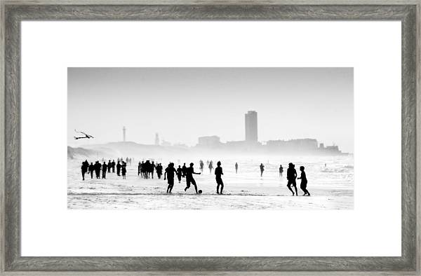 When The Sun Encounters The Mist ... Framed Print