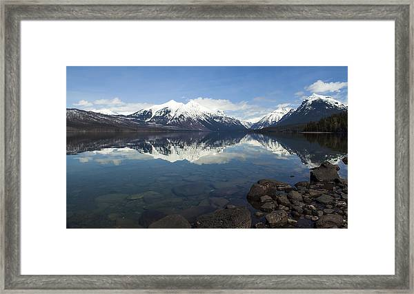 When The Sun Shines On Glacier National Park Framed Print