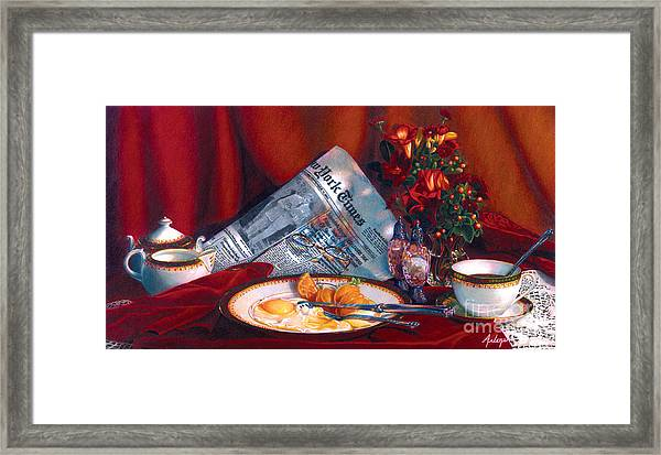 When Time Stopped Framed Print by Arlene Steinberg