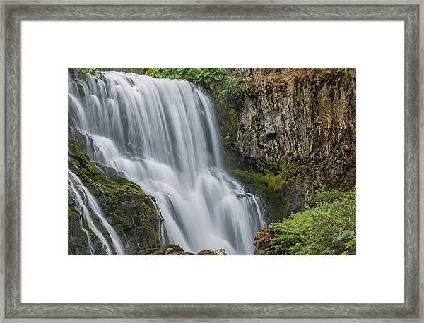 When Water Meets Rock Framed Print