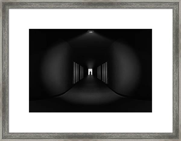 Where Are You Go ? Framed Print