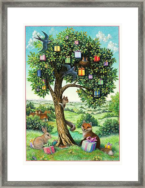 Where Birthday Presents Come From Framed Print