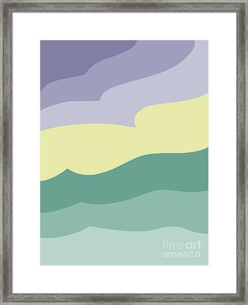 Where Sea Meets Sky Framed Print