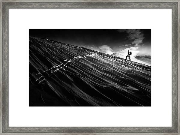 Where The Trail End? Framed Print by Sandi Bertoncelj