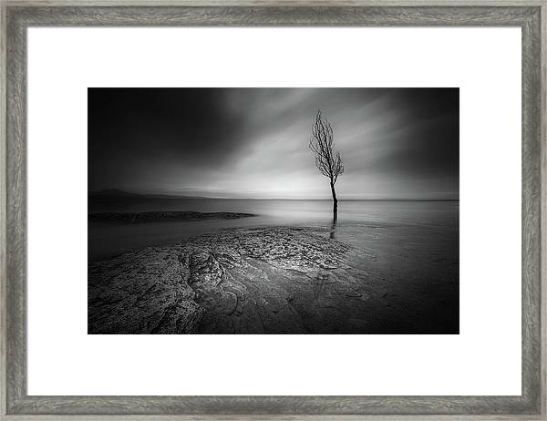 While Clouds Slip Away Framed Print