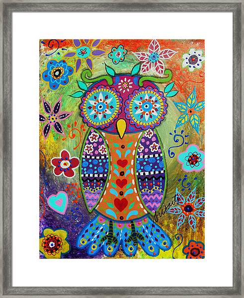Whimsical Owl Framed Print