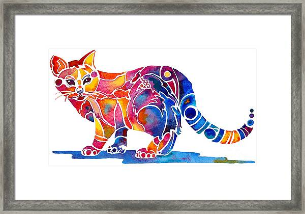 Whimzical Calico Kitty Framed Print