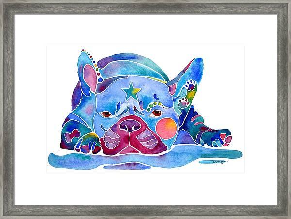 Whimzical French Bulldog  Framed Print