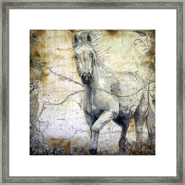 Whipsers Across The Steppe Framed Print