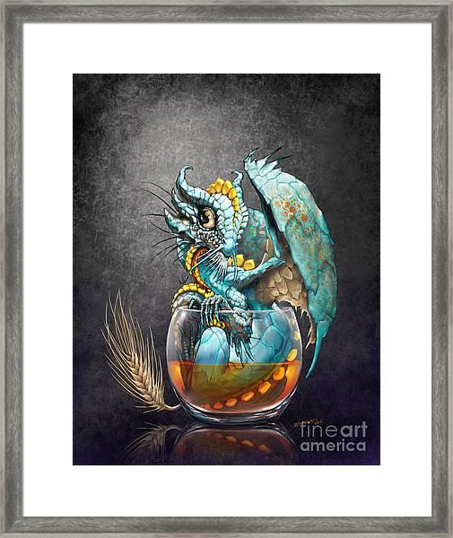 Whiskey Dragon Framed Print