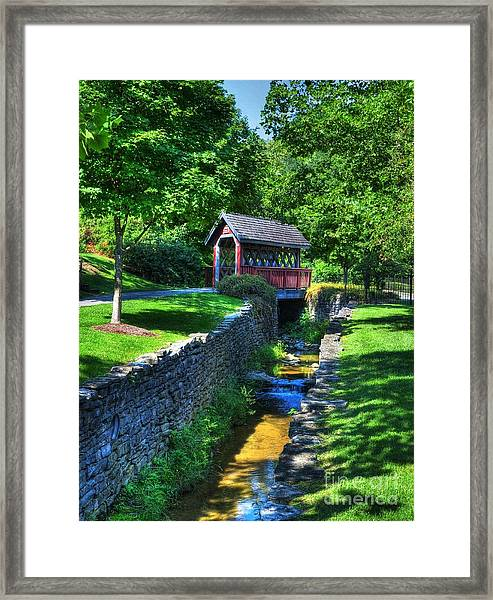 Framed Print featuring the photograph Whisky Creek Bridge by Mel Steinhauer