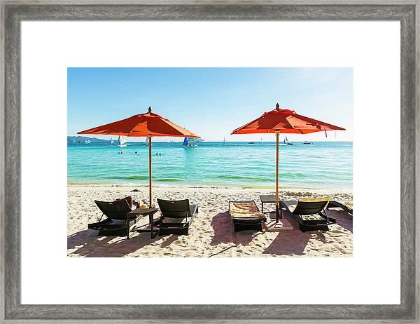 White Beach, Boracay, Philippines Framed Print