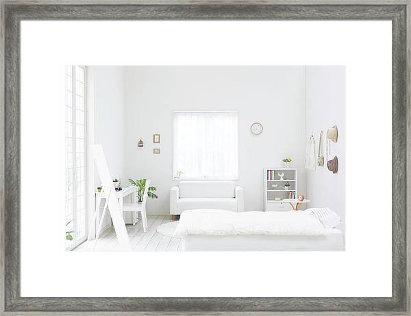 White Bedroom Framed Print