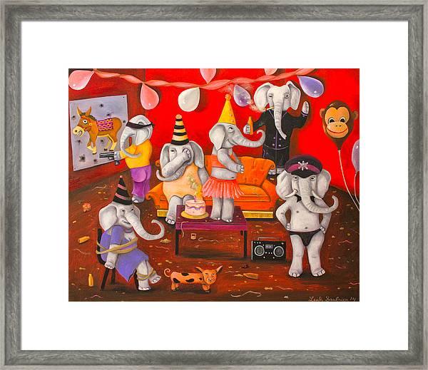White Elephant Party Edit 5 Framed Print