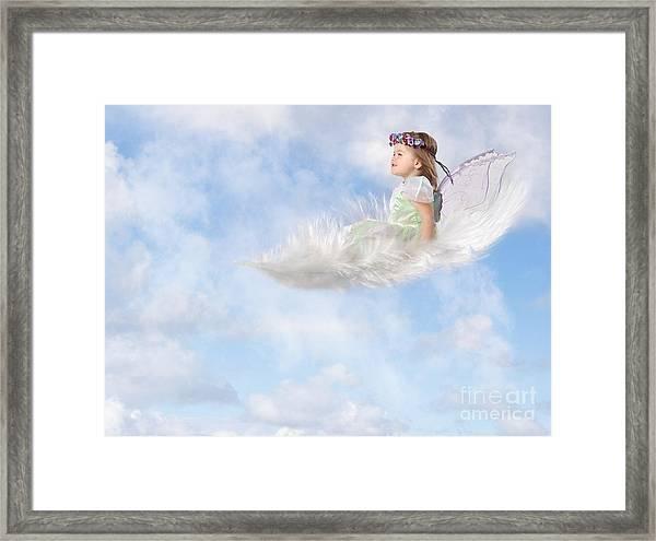 White Feather Dream Framed Print
