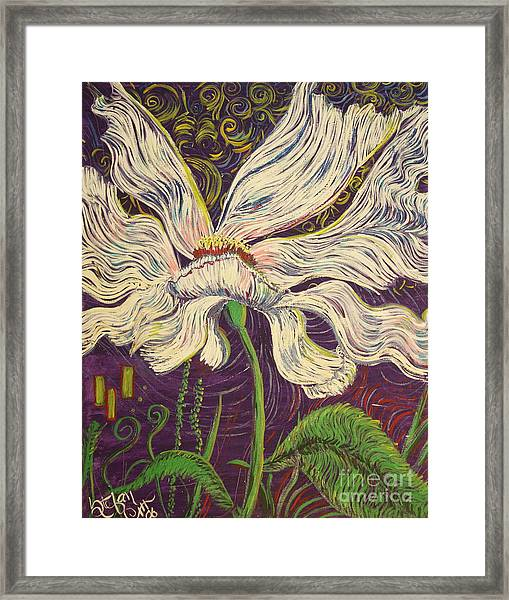 White Flower Series 6 Framed Print