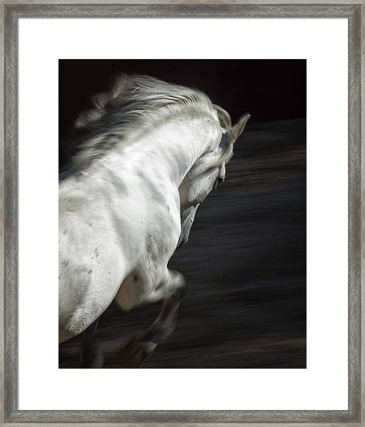 White Lightning Framed Print