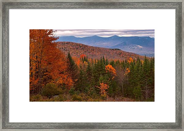 White Mountains Drama Framed Print