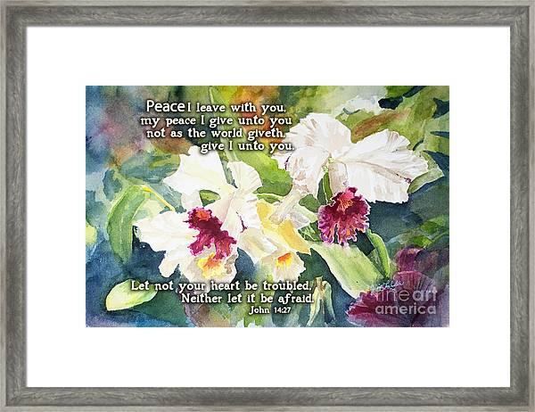 White Orchid John 14 Framed Print