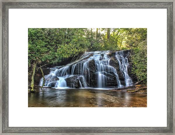 White Owl Falls Framed Print
