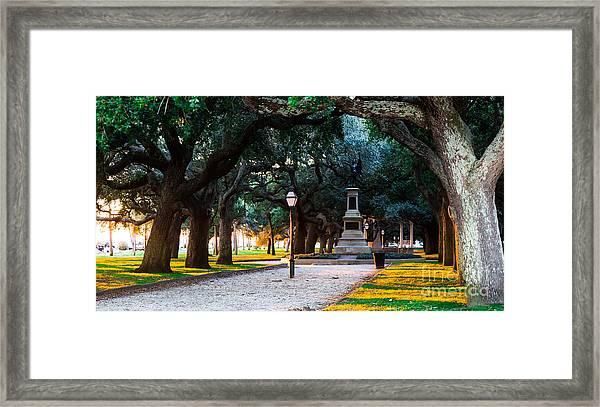 White Point Garden Walkway Charleston Sc Framed Print