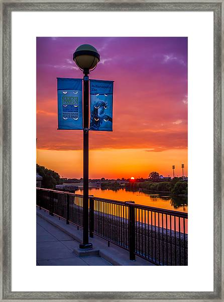 White River Sunset Framed Print