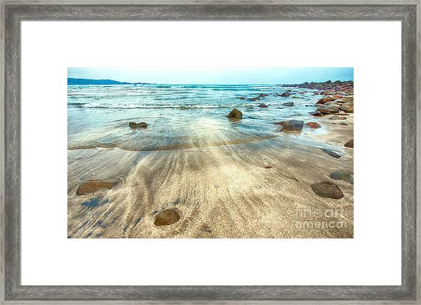 White Sand Beach Framed Print
