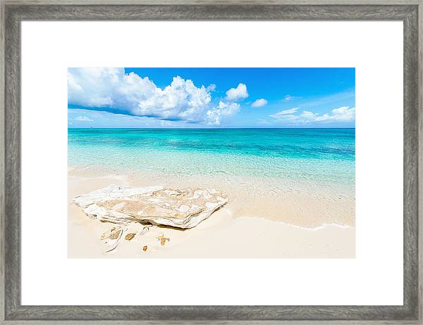 White Sand Framed Print