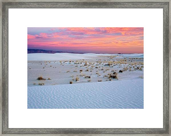 White Sands National Monument Framed Print by Bob Gibbons/science Photo Library
