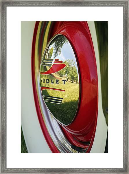 White Sidewalls On Chevy Framed Print