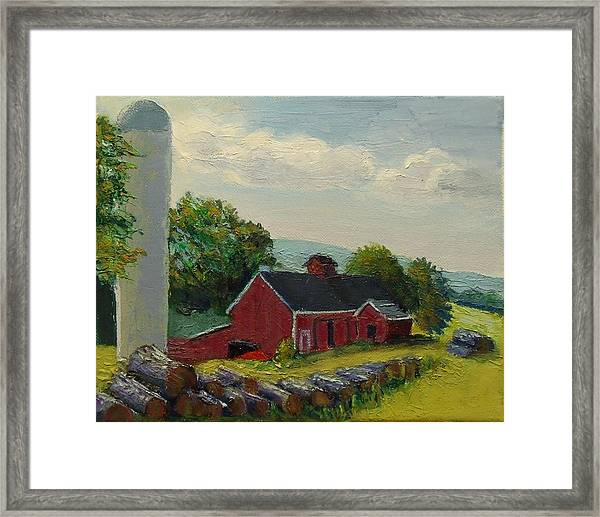 White Silo Winery Ct Framed Print