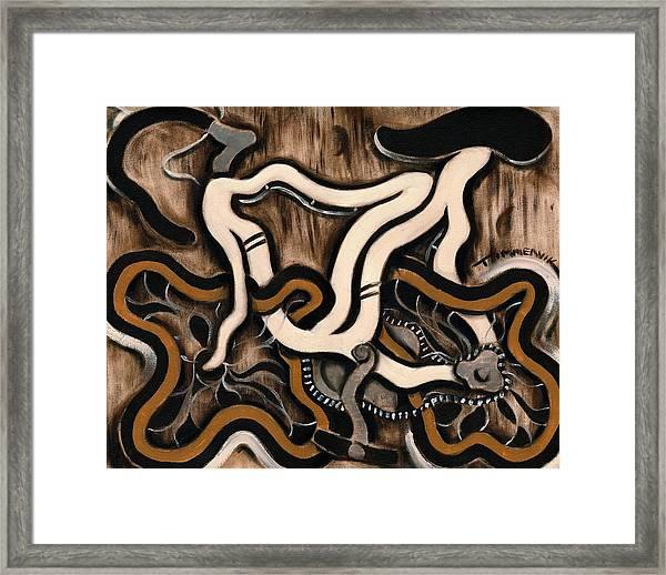 Tommervik White 10 Speed Bike Art Print Framed Print