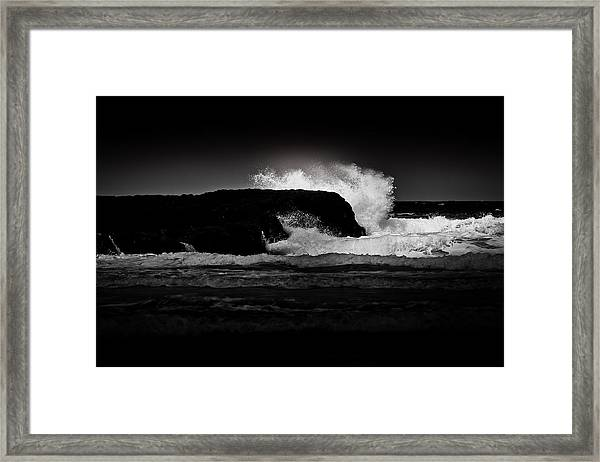 White Wave Framed Print
