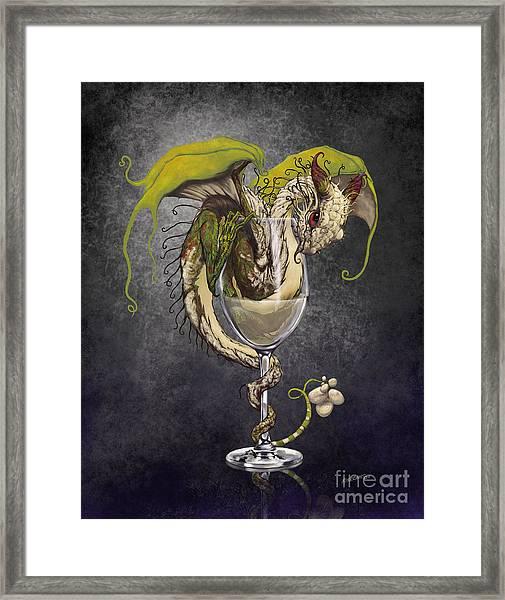White Wine Dragon Framed Print