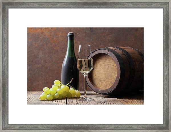 White Wine Framed Print by Sematadesign