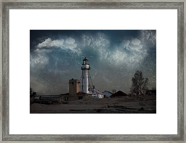 Whitefish Point Lighthouse Lake Superior Framed Print