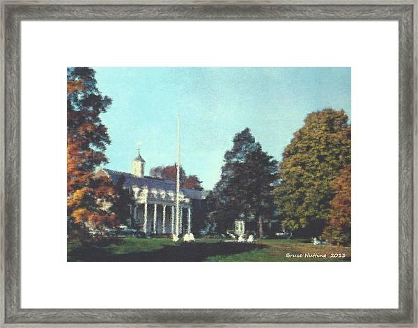Whittle Hall Framed Print