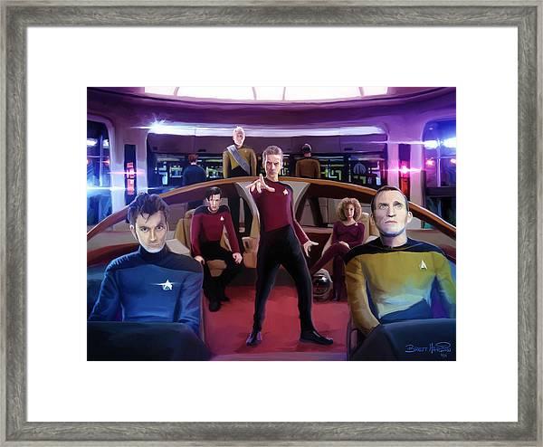 Who Trek Framed Print