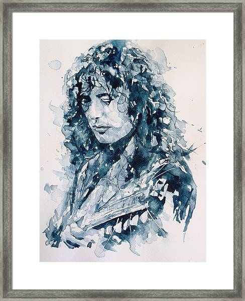 Whole Lotta Love Jimmy Page Framed Print