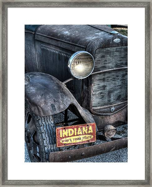 Who's Your State Framed Print