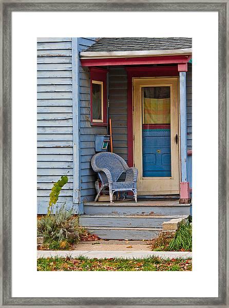 Wicker Framed Print
